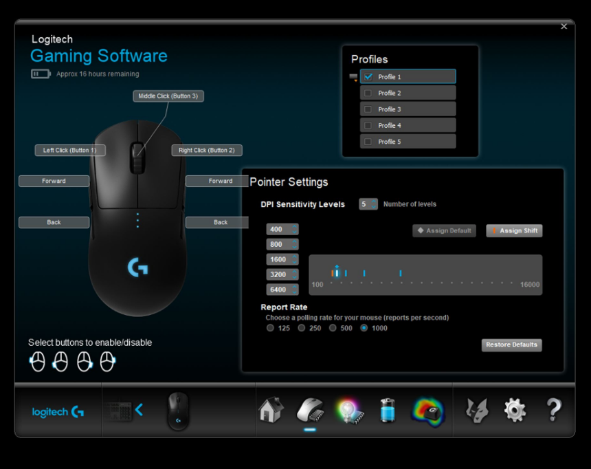 Buy the Logitech G Pro Hero Wireless RGB Gaming Mouse ( 910