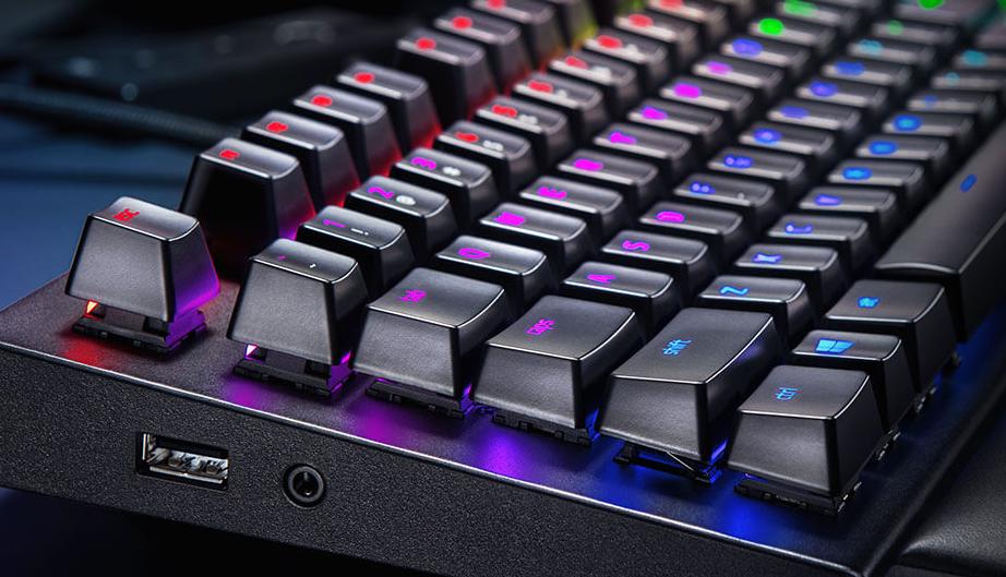 Buy the Razer Blackwidow Elite RGB Mechanical Gaming Keyboard - Yellow  Switch,    ( RZ03-02622000-R3M1 ) online