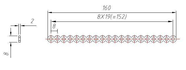 Makeblock Cuttable Linkage-Blue 10-Pack 84420