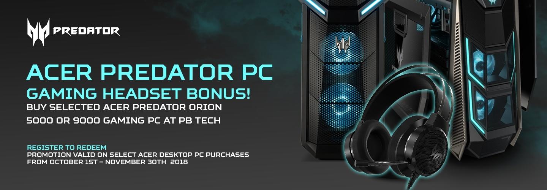 Picture of Acer Predator Orion Gaming PC Bonus at PB Tech
