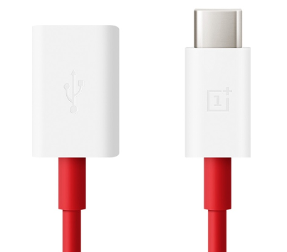 Buy the OnePlus Type-C OTG Cable White/Red ( 202003601 ) online
