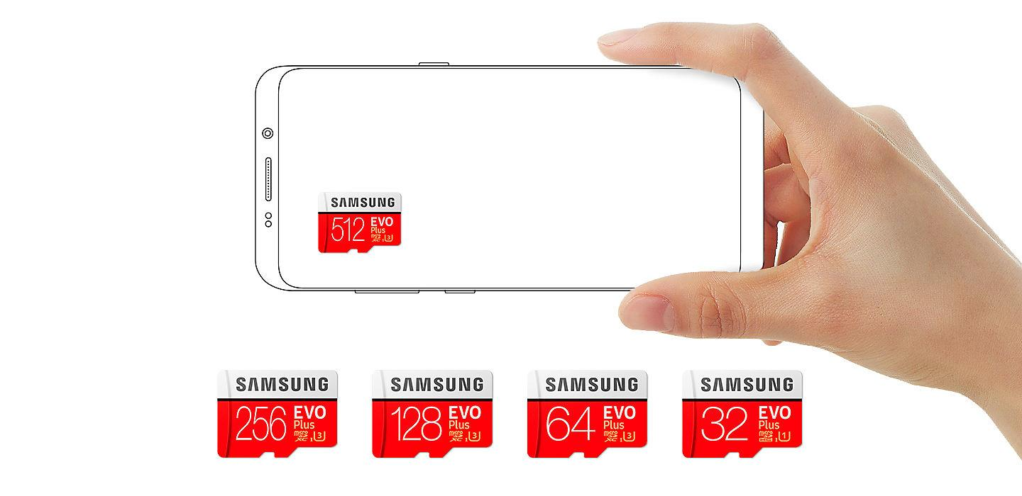 Buy the Samsung EVO PLUS 512GB Micro SDXC with Adapter up to 100MB/s  Read,    ( MB-MC512GA/APC ) online