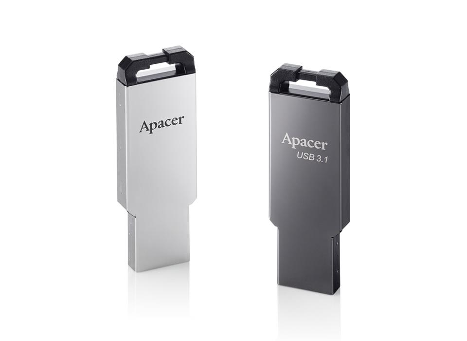 ce87ab8dce7 Apacer AH360 32GB USB 3.1 Flash Drive - Black Nickel. Backwards compatible  with USB 3.0