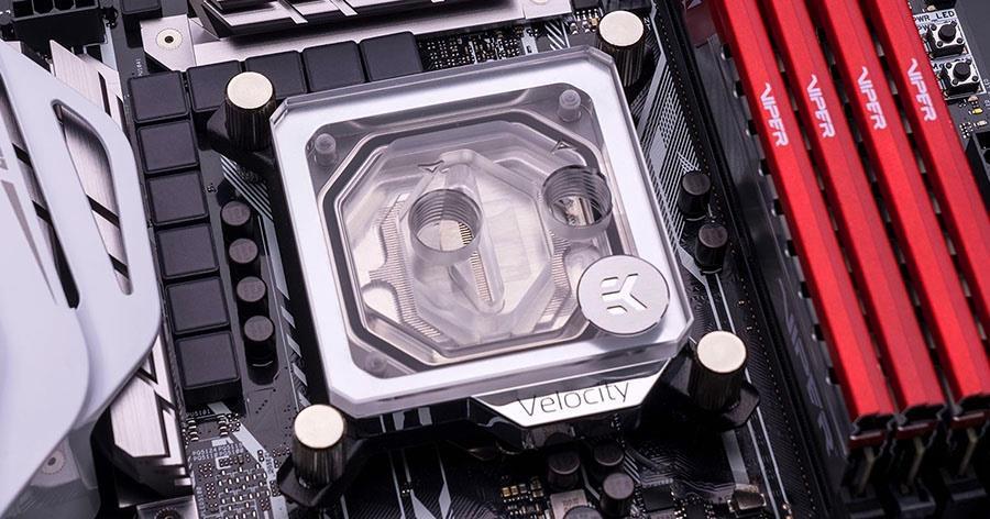 Buy the EKWB EK-Velocity CPU water block - Nickel + Plexi