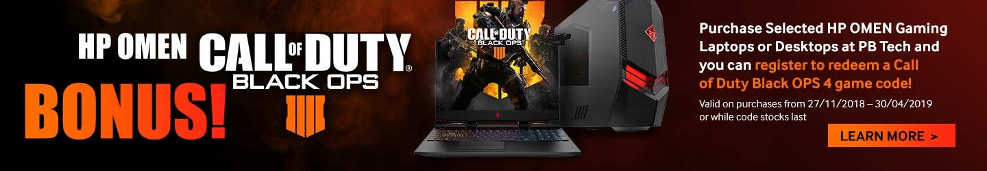 Learn more about HP Omen Black OPS promotions at PB Tech