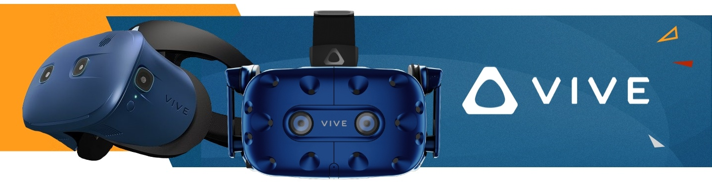 Picture of new HTC Vive PRO EYE and Vive COSMO VR Headsets at PB Tech