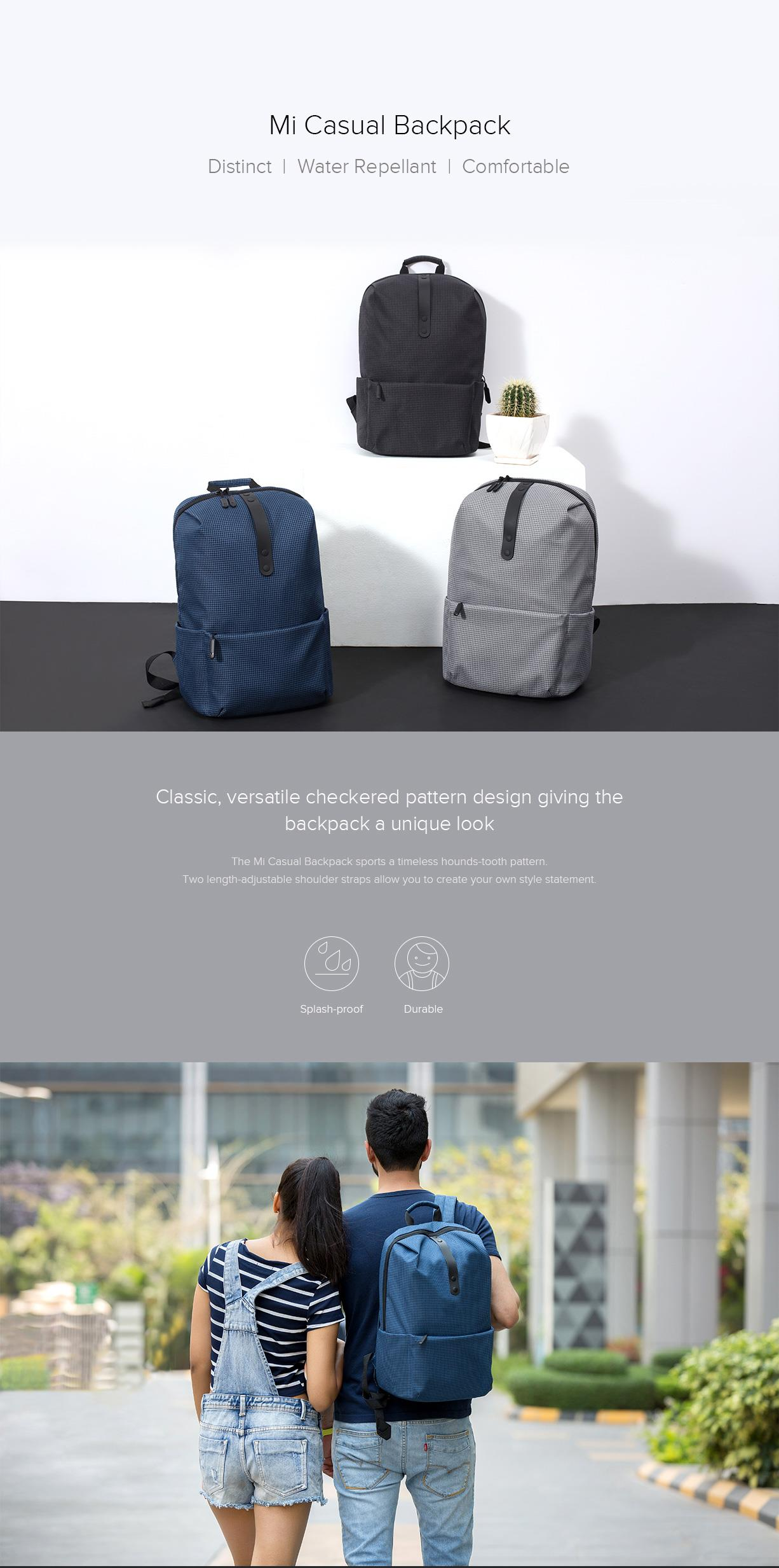 Buy the Xiaomi Mi College Casual Backpack Black ( ZJB4054CN