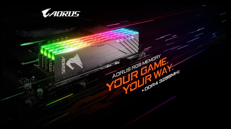 Buy the Gigabyte Aorus RGB 16GB (2 X 8GB) DDR4, 3200MHz 16GB