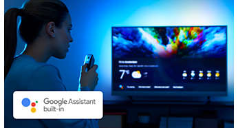 Google Assistant built-in. Content and more at your command.