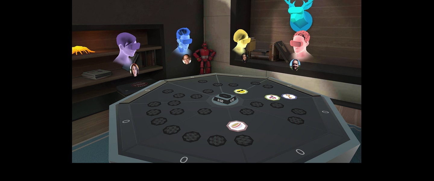 Party in virtual rooms