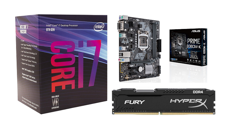 Buy the PB Upgrade Kits CPU, RAM & Motherboard 11002 Intel Core i7 8700 6  Core    ( BDLPB11002 ) online