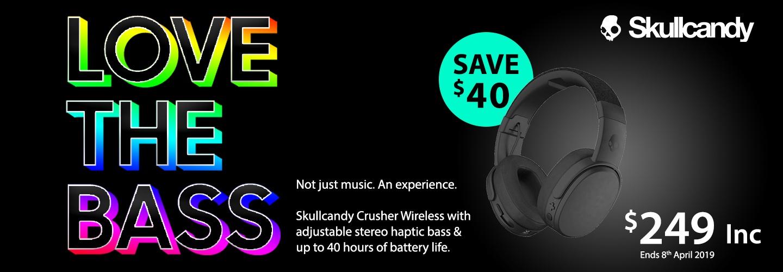 Love That Bass - Skullcandy Crusher Wireless Headphones