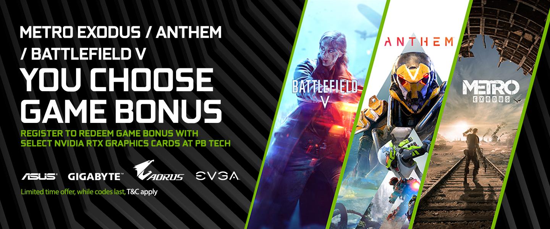 Picture of Nvidia Free Game Bonus at PB Tech