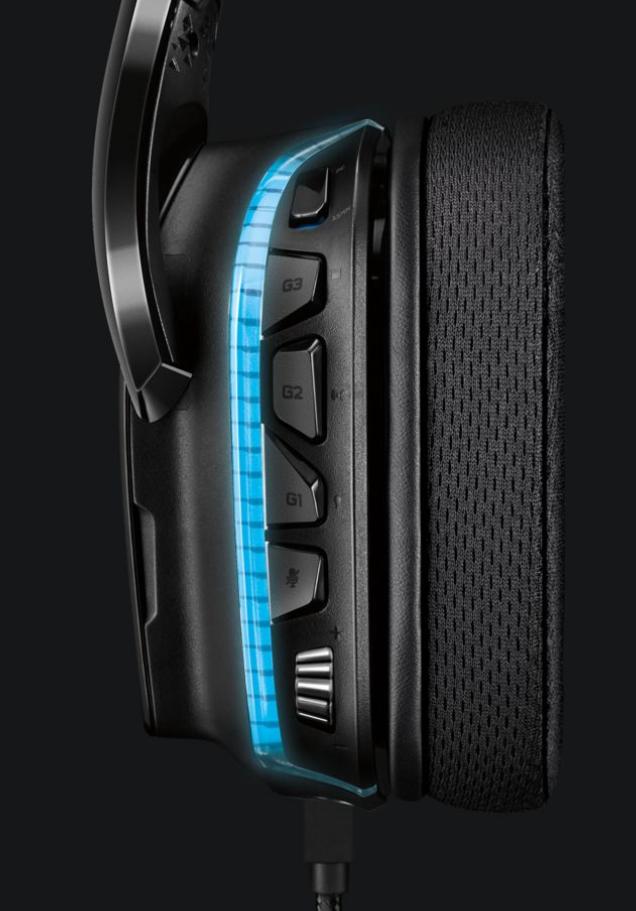 Buy the Logitech G635 Wired RGB 7 1 Surround Sound LIGHTSYNC
