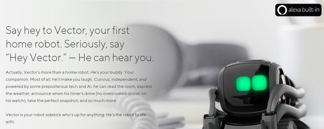 Buy the ANKI AI Robot Vector HD Camera, Infrared Laser