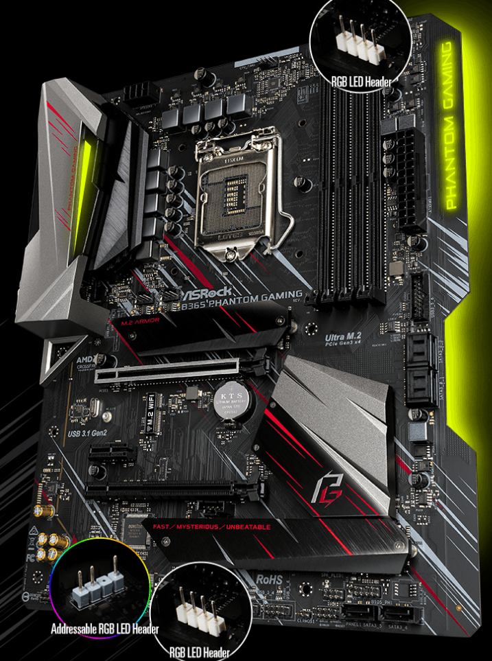 Buy the ASRock B365 Phantom Gaming 4 ATX motherboard For Intel 8th