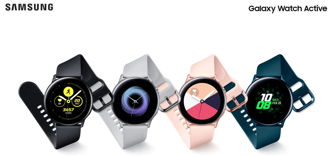 Buy the Samsung Galaxy Watch Active (2019) Smart Watch, Silver, Thin &  Light    ( SM-R500NZSAXNZ ) online