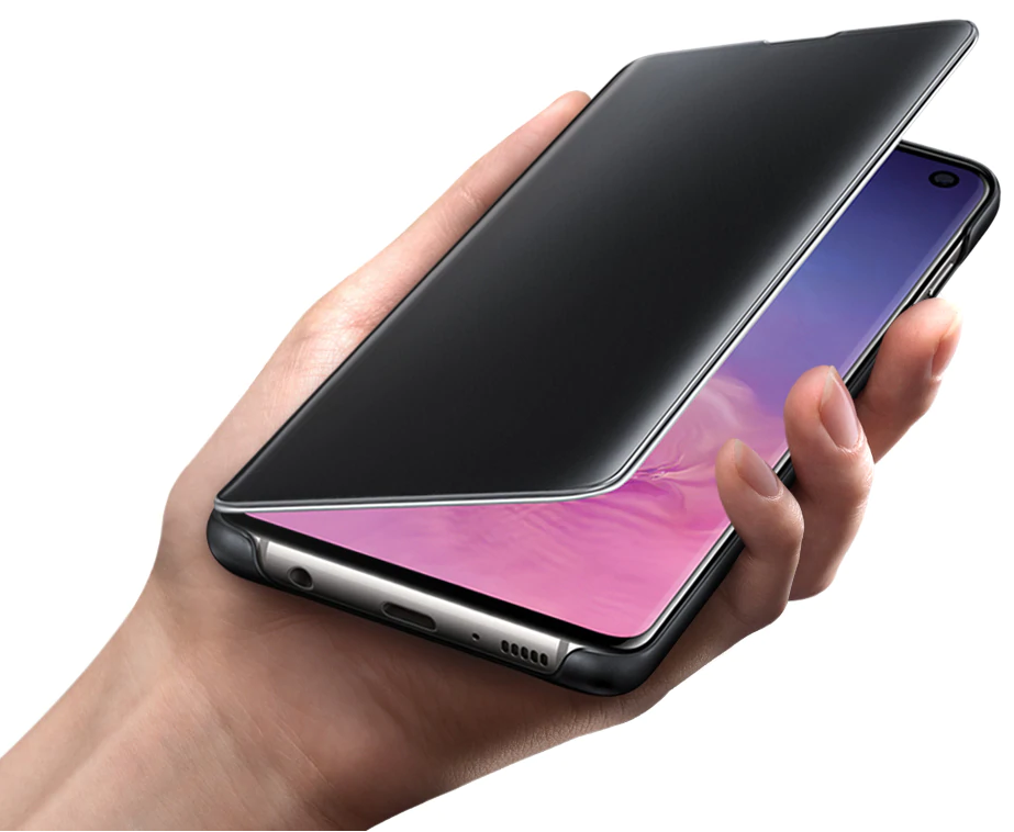 Buy the Samsung Galaxy S10 Clear View Standing Flip Cover