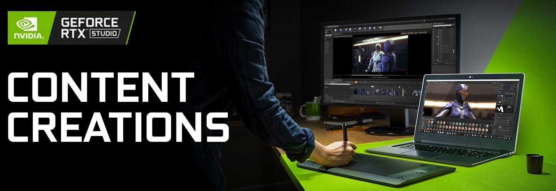 RTX laptops for content creators at PB Tech