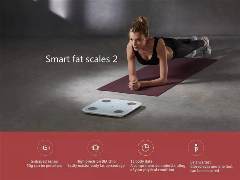 Xiaomi Mi Mijia Smart Body Weight Scale 2 LED Bluetooth 5.0 XMTZC05HM