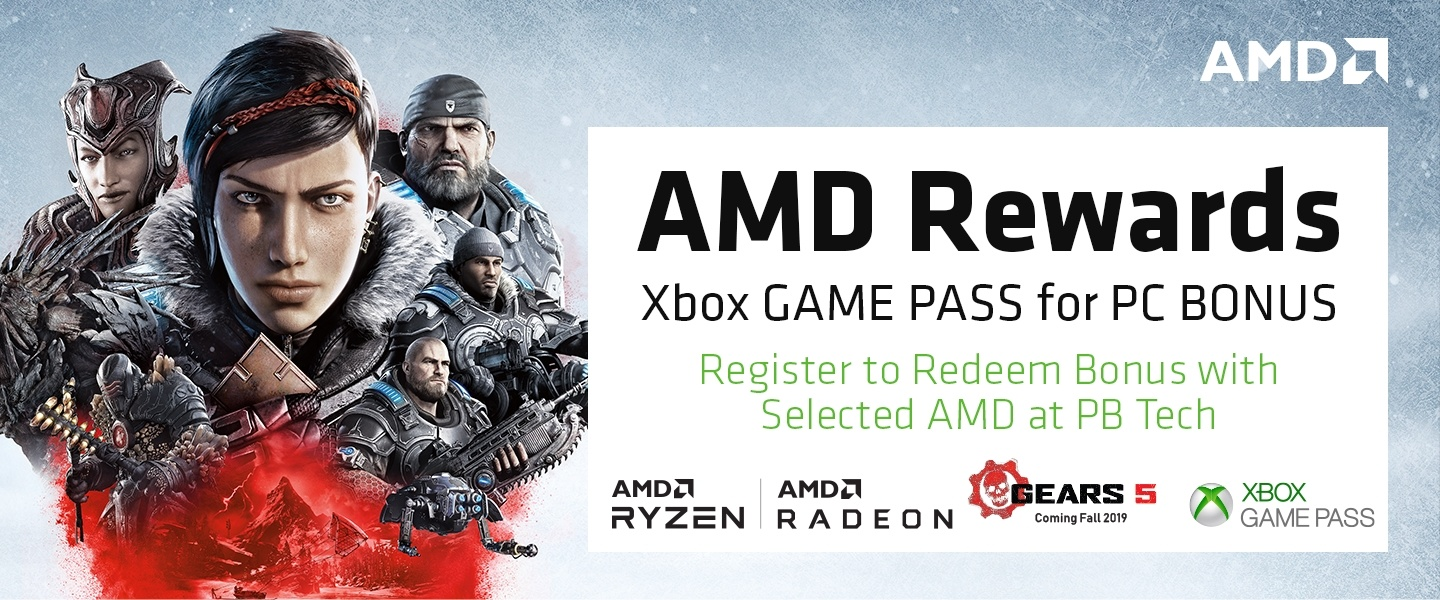 Picture of AMD Game Pass bonus at PB Tech