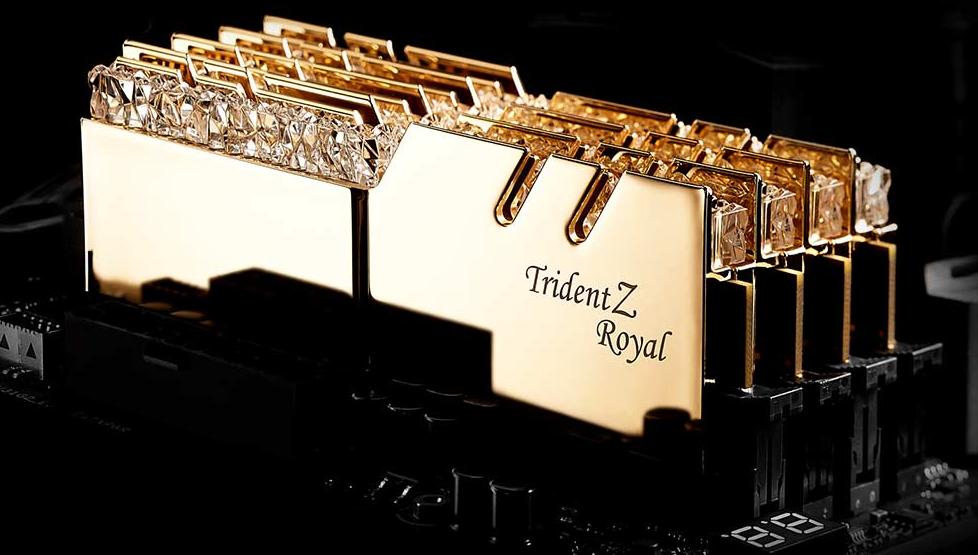 Buy the G SKILL Trident Z Royal RGB F4-3200C14Q2-128GTRG 128GB (8 x