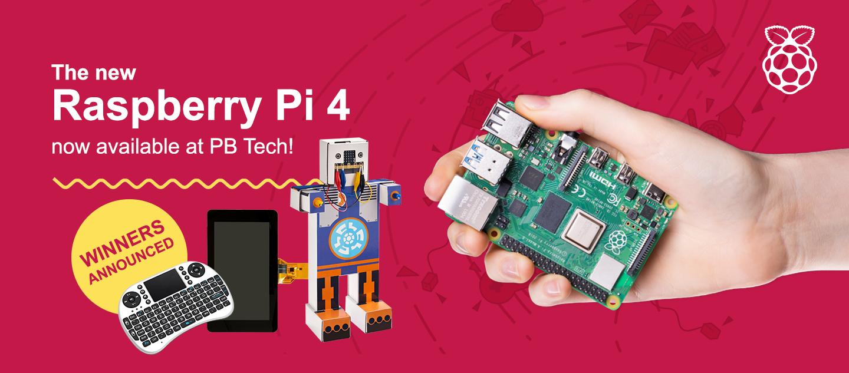 Raspberry Pi 4 Prize Winners - PBTech co nz