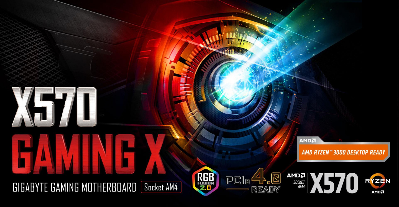 Buy the Gigabyte X570 GAMING X ATX For AMD Ryzen 2nd/3rd Gen