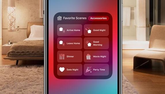 Homekit lighting control via iphone