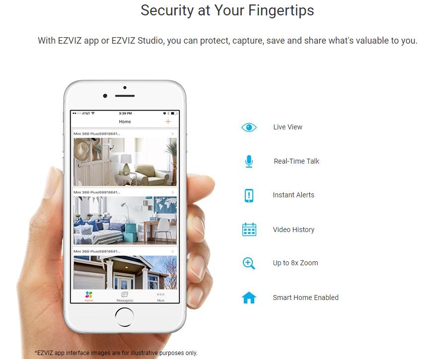 Buy the EZVIZ Mini O Indoor Cloud Wi-Fi IP Camera, 720p/H