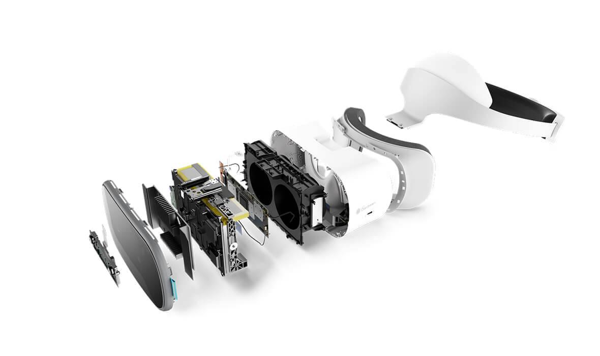 Lenovo Mirage Solo component breakout view