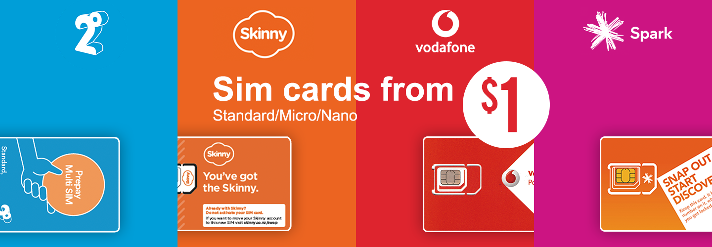 Sim Cards from $1 - PBTech co nz