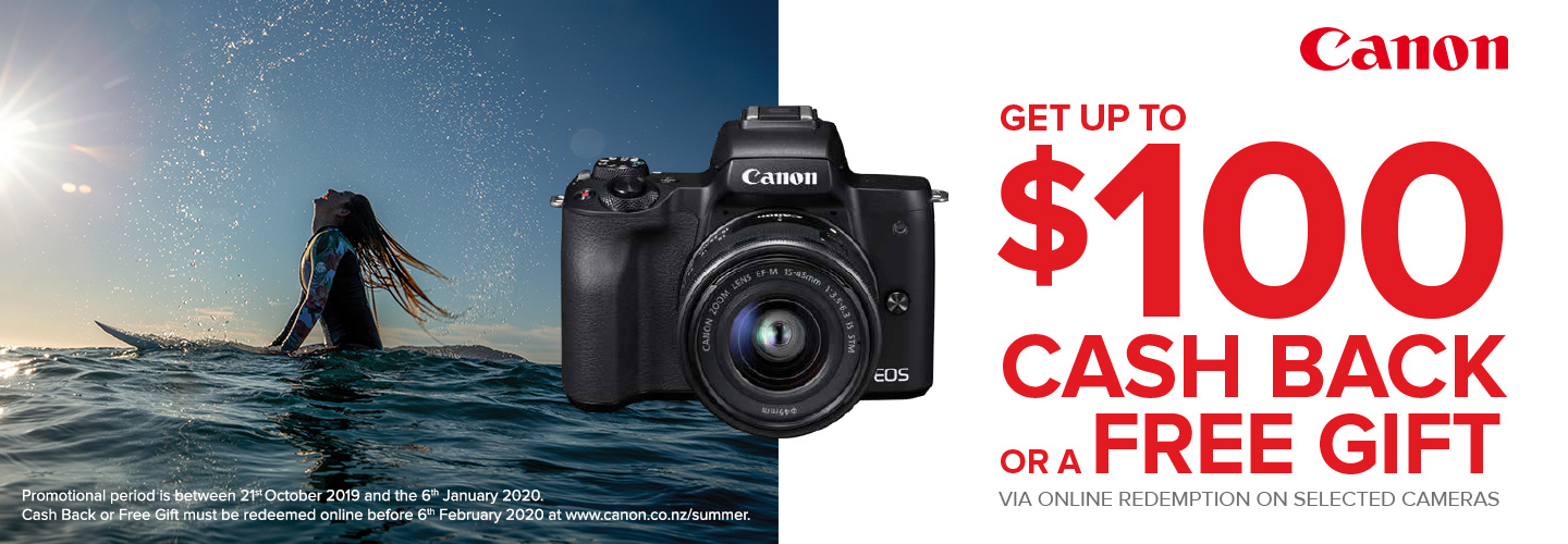 PB Tech promotion $100 cashback on selected Canon camera purchases