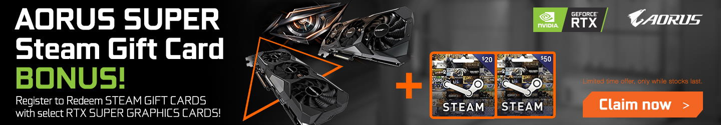 Picture of AORUS Steam Voucher Promotion at PB Tech NZ
