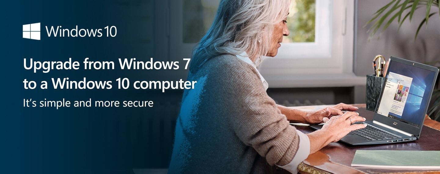 Upgrade from Windows 7 to a Windows 10 computer