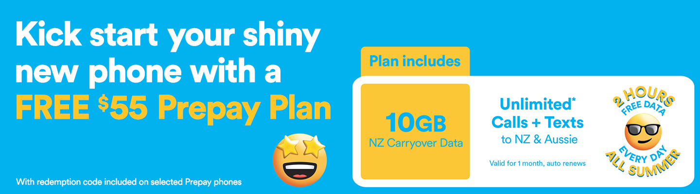 Free 2degrees $30 prepay plan at PB Tech with selected mobile phones promotion