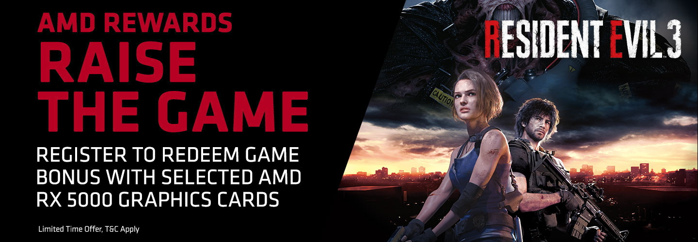 Picture of AMD Rewards Raise the Game with Resident Evil 3 at PB Tech