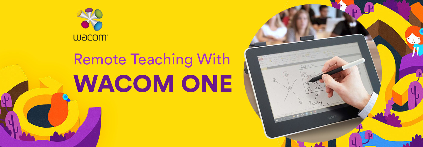 Remote Teaching with Wacom One Graphics Tablet
