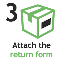 attach label to box icon