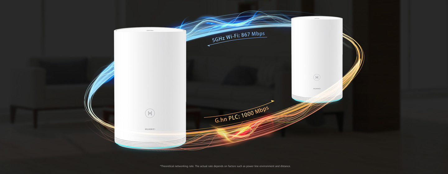 Huawei Q2 Whole Home Hybrid Mesh Wi-Fi with PLC Turbo
