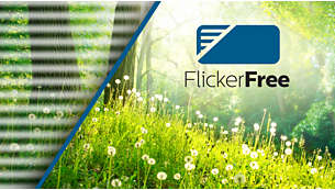 Less eye fatigue with Flicker-free technology