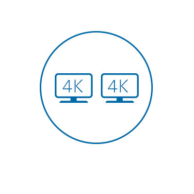 Dual 4K Video Output (HDMI 2.0 and DP 1.2 @ 60Hz)