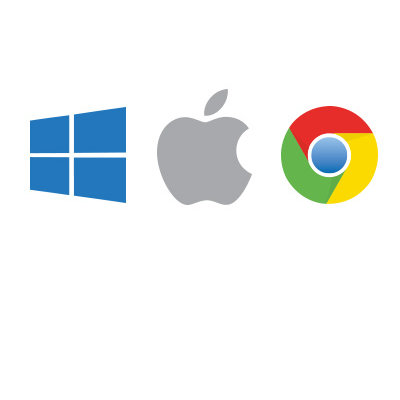 Windows, macOS, and Chrome OS Compatible