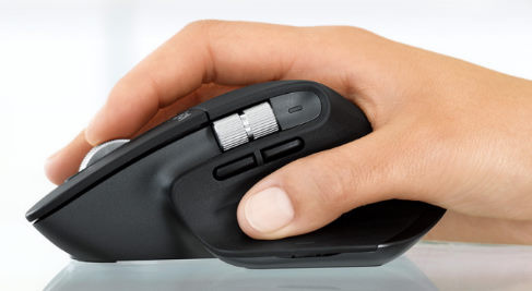 Picture of wireless mouse ergonomics