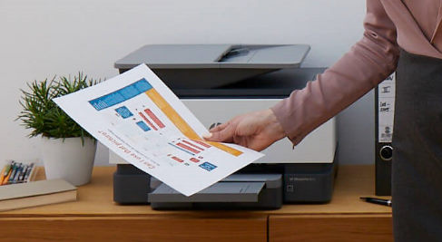 Printer printing a colour chart