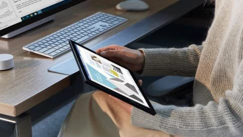 Surface as a touch tablet