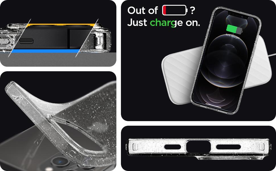iPhone 6.1 (12 & 12 Pro) Case Liquid Crystal Glitter Crystal Quartz