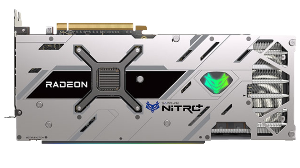 icture of NITRO+ Sapphire RX 6800 XT graphics card backplate