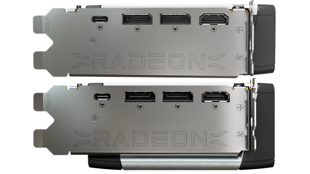Picture of Radeon RX 6800 outputs