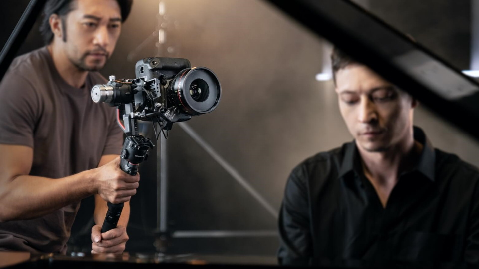Picture of DJI Ronin S 2 being held in hand